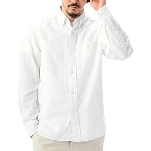 (コーエン) COEN フレンチリネン×コットンオックスボタンダウンシャツ 75106045001 01 White XL