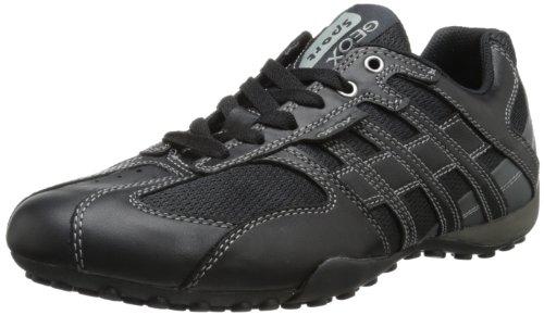 Geox - Sneaker UOMO SNAKE K, Uomo, Black/Lead, 43 EU