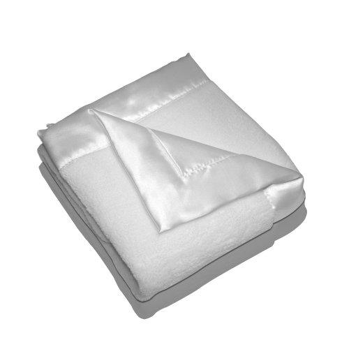 Elegant Baby Plush Microfiber Blankie - White - 1