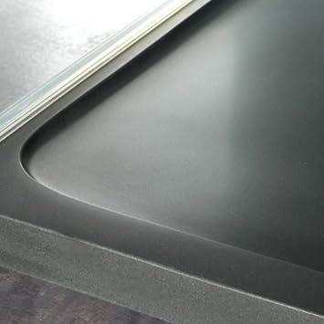receveur de douche extra extra plat en pierre naturelle noire 80x120 bricolage m46. Black Bedroom Furniture Sets. Home Design Ideas