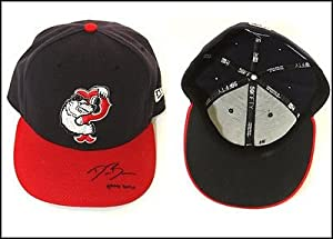 Dusty Brown Pawtucket Red Sox Signed 2008 Road Game Hat by Your Sports Memorabilia Store