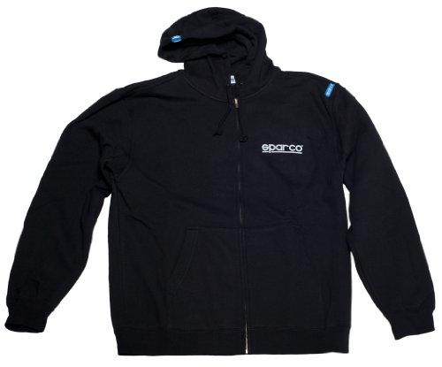 sparco-sp04100nr3l-zip-www-hoodie-large-black-sweatshirt