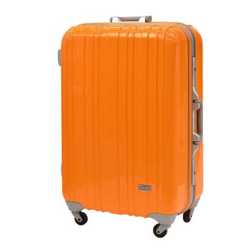 スポルディング スーツケース ハードケース SP-0614 59cm (オレンジ)