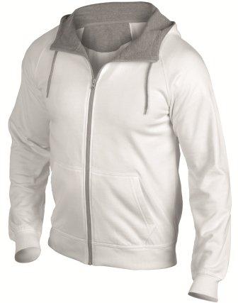Hanes 7750 Mens Cool-DRI® Zip Up Hoodie Hooded Sweat Jacket White 2XL