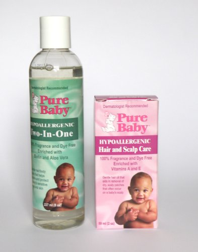 Buy Cradle Cap Shampoo & Eczema Wash Get 2 Cradle Cap Oil FREE by Pure Baby Only £9.99 SAVE £15.48