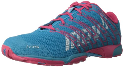 Inov-8 Women's F-Lite 215 Cross-Training Shoe,Blue/Pink,5.5 M US
