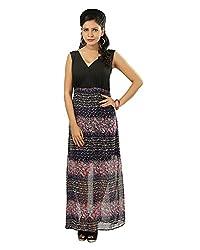 Advika Women's Dress (Black, Small)