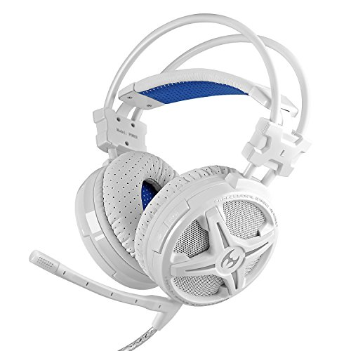 PC Gaming Headsets, Mixcder Power Music & Gaming Headphones Virtual 7.1 Surround Sound USB 2.0 Enhanced Bass, 40mm Dynamic Drivers, LED Lighting, Comfortable and Lightweight Over-ear Headband with Microphone for PC / Computer