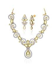 "Peora 18 Karat Gold Plated Kundan ""Shilpi"" Necklace Earrings Set (PN418GJ)"