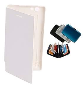 KolorEdge Flip Cover + wallet For Sony Xperia Miro-ST23i - White