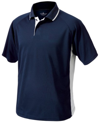 Charles River Apparel 3810 Men'S Color Blocked Wicking Polo,Navy/White,Large