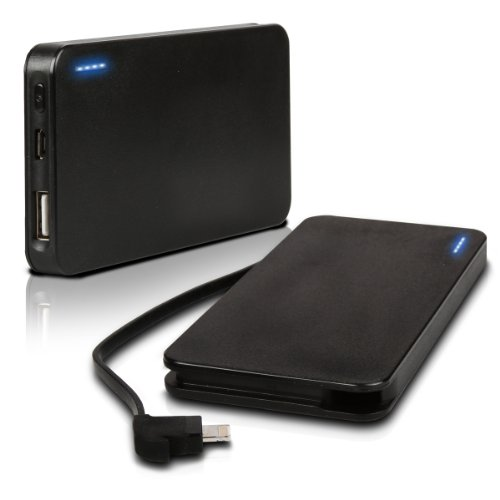 Photive iPhone 5 Rechargeable 3000 Mah Portable Battery Charger with Built in Lightning Cable.