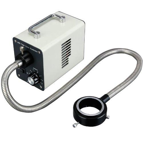 Amscope Led-20Wr 20W Led Fiber Optic O-Ring Light Microscope Illuminator