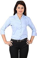 LGC Women's Buttoned Shirt (LGOSBLUL, Blue, L)