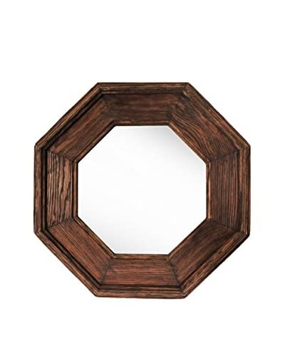PTM Images Small Reclaimed Wood Framed Octagon Mirror, Natural