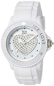 ICE-Watch - Montre femme - Quartz Analogique - Ice-Love - White - Unisex - Cadran Blanc - Bracelet Silicone Blanc - LO.WE.U.S.10
