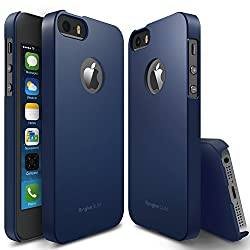 Rearth Ringke Slim Hard Cover with Free Premium Screen Protector for Apple iPhone 5S/5 (Navy)