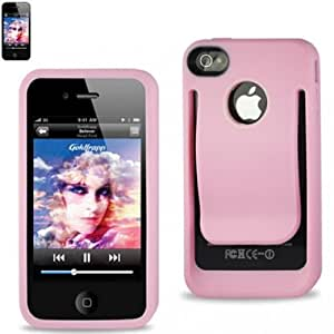 Reiko BPC-IPHONE4SPK Durable Belt Clip-Style Holster Case for iPhone 4/4S - 1 Pack - Retail Packaging - Pink