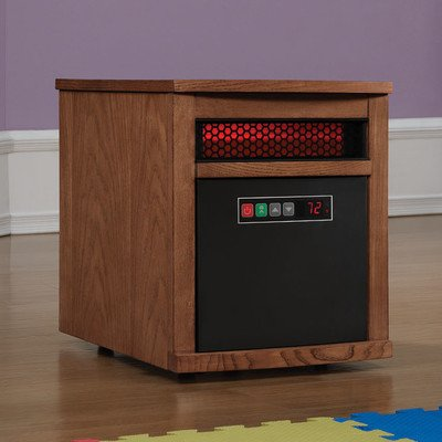B00K172S3Y Duraflame 9HM8101-O142 Portable Electric Infrared Quartz Heater, Oak