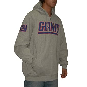 NFL New York Giants Mens Warm Athletic Zip-Up Heavy Weight Hoodie by NFL