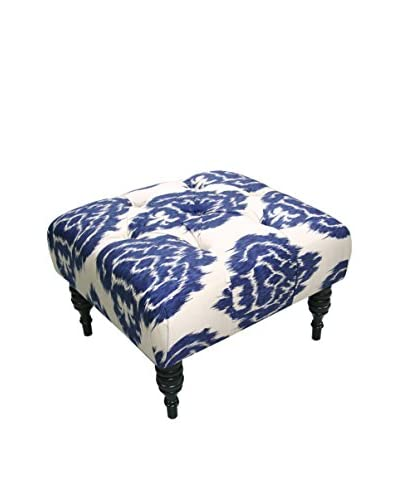 Skyline Furniture Tufted Ottoman, Diamond Blue