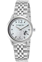 Raymond Weil Women's Freelancer Stainless Steel Mother of Pearl Dial Diamond Markers