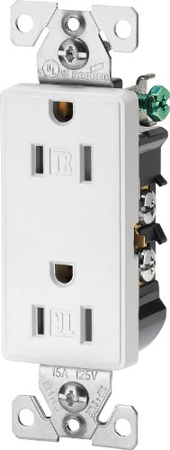 Cooper Wiring Devices 9505TRWS Aspire Tamper Resistant Duplex Receptacle, White Satin