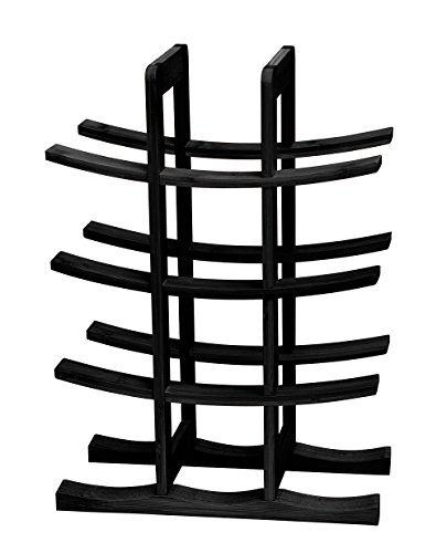 Trademark Innovations 12-Bottle Wine Rack, Black front-22176