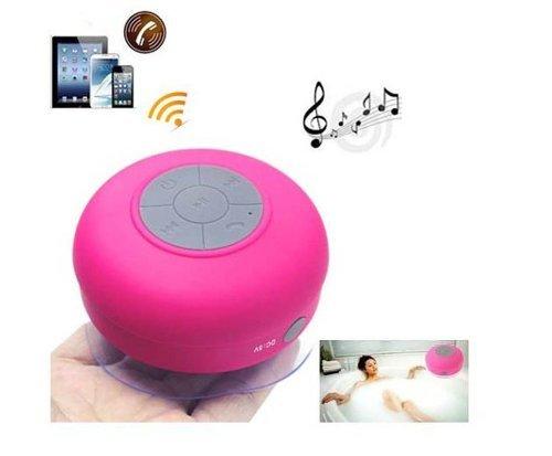 Bluetooth スピーカー 防滴 防水 お風呂 ブルートゥース ポータブル ワイヤレス ハンズフリー 通話 iphone/ipadなど対応 最新人気スピーカー (ピンク)