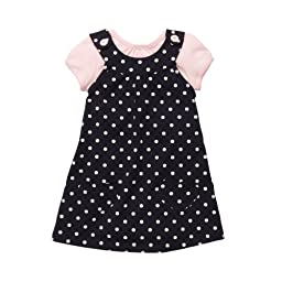 Carter\'s Baby Girls\' Knit Jumper S/S Set - Navy Dot - 9 Months