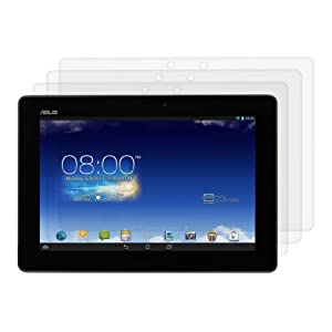 3x kwmobile® screen protector for Asus Memo Pad 10 ME102A CRYSTAL CLEAR - premium quality