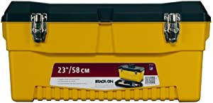 Stack-On PY-23 23-Inch Pro Tool Box, Black/Yellow