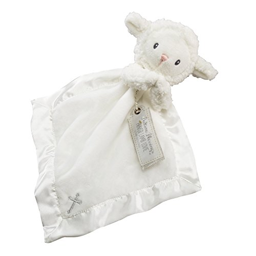 Baby Aspen Bedtime Blessings Lamb Lovie Blanket, White