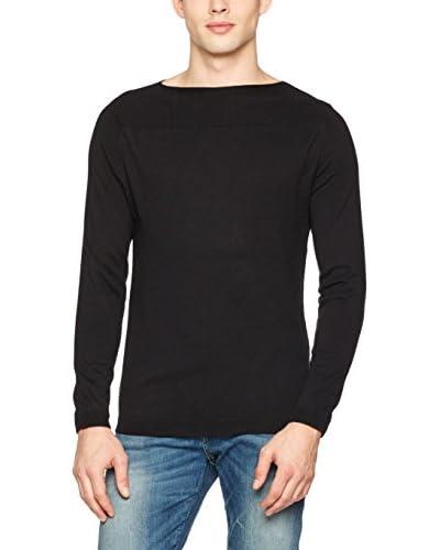 Guess Pullover Ls Bn Ubaldo [Nero]
