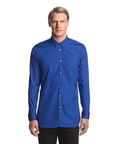 Calvin Klein Collection Men's Slim Fit Poplin Shirt