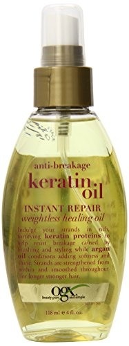 OGX Weightless Healing Oil, Anti-Breakage Keratin Oil Instant Repair, 4oz (Keratin Hair Spray compare prices)