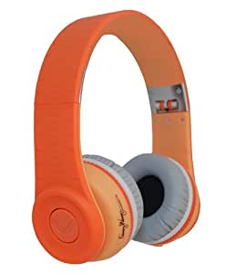 Fanny Wang On-Ear Music Headphones with Remote - Orange