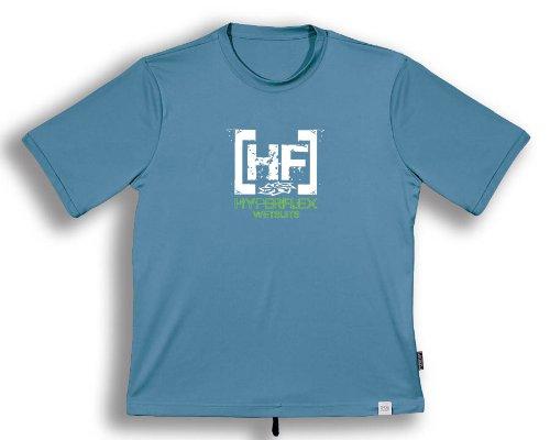 Hyperflex Kids Boys Short Sleeve Watershirt (6/8, Slate) - Surfing, Windsurfing & Kayaking