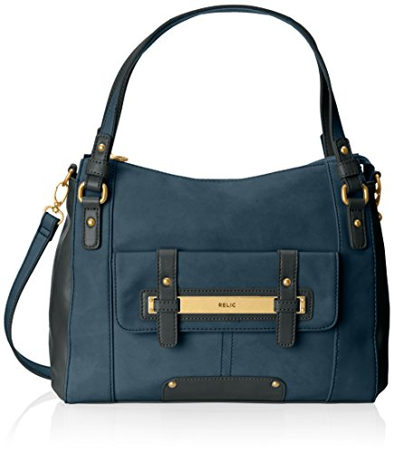 Relic Perry Satchel,Dark Denim,One Size Relic B00LITFUTS