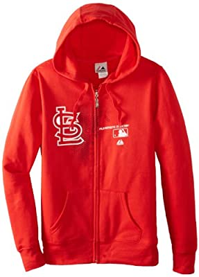 MLB St. Louis Cardinals Women's Change Up Fleece, Athletic Red