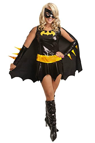 Happy&cos Women's Sexy Deluxe Batgirl Adult Costume