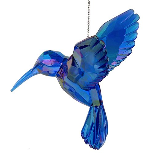 Acrylic Hummingbird Ornament Blue