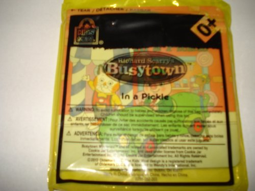 Wendy's Kids' Meal 2013 Richard Scarry Busytown Book In a Pickle - 1