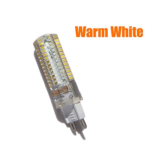 Arlybaba Corn Lamp Silicone Crystal 2Pcs 5W 220-240V G9 3014Smd 104-Led Energy Saving Warm White Light Bulb Crystal Capsule Spotlight Lamps