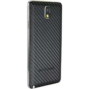 xubix Carbon Akkudeckel für Samsung N9005 Galaxy Note 3 Note III - mit schwarzem Rand / Carbon