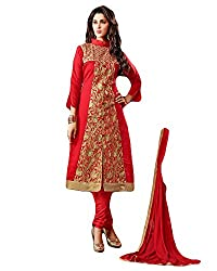 Typify Women's Chanderi Unstitched Dress Material (TYPIFY265_Multicolor_Free Size)