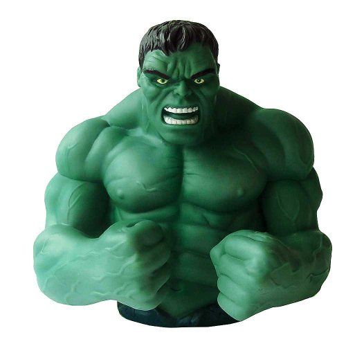 "Marvel Comics - Busto salvadanaio ""Incredibile Hulk"", in resina, altezza: 18 cm circa"
