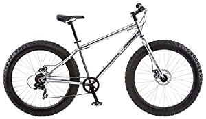 Amazon.com : Mongoose Men's Malus Fat Tire Bike, Silver : Sports