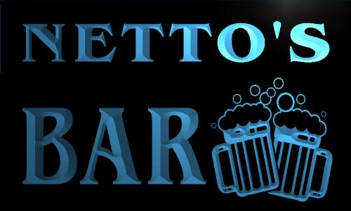 w026298-b-netto-name-home-bar-pub-beer-mugs-cheers-neon-light-sign
