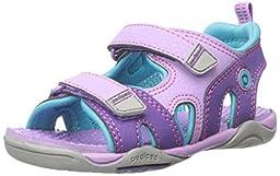 pediped Flex Navigator Water Sandal (Toddler/Little Kid), Lavender, 24 EU(7.5-8 E US Toddler)